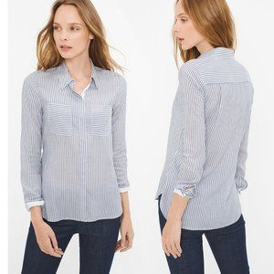 WHBM Long Sleeve Striped Shirt *